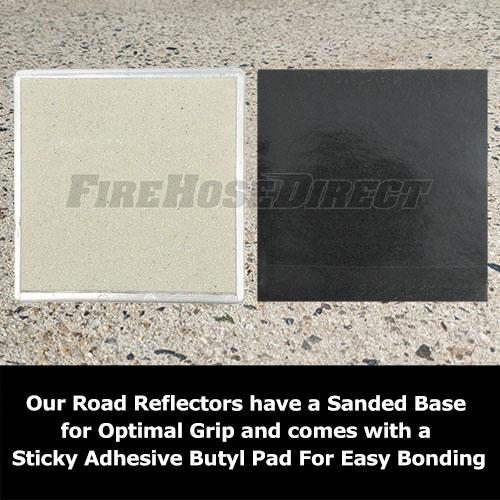 Peel-N-Stick White Reflective Road Marker - RMPWH