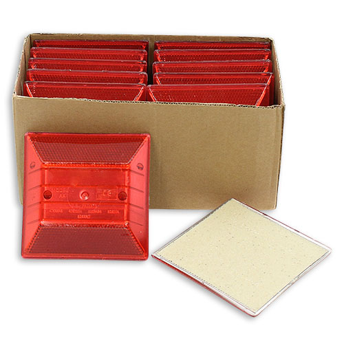 Red Reflective Road Marker (10 Pack)