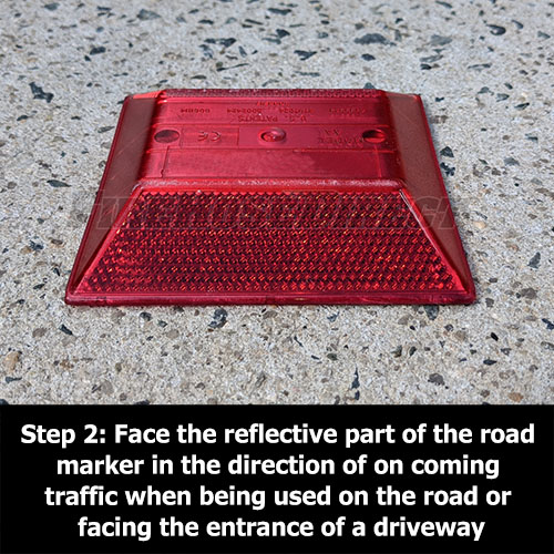 Red Reflective Road Marker (2 Pack) - RMRD-2
