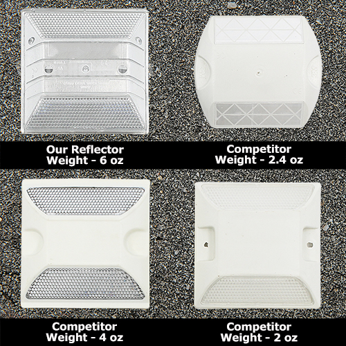 White Reflective Road Marker (50 Pack) - RMWH-50
