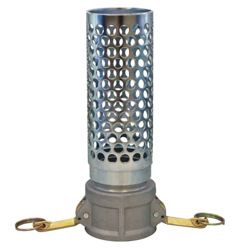 "Steel 2"" Camlock Thin Barrel Strainer"