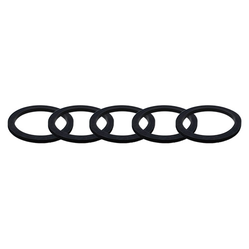 Fire hose NPSI adapter gasket black rubber  2 x 1 1//2 1//8 pipe seal ring fitting