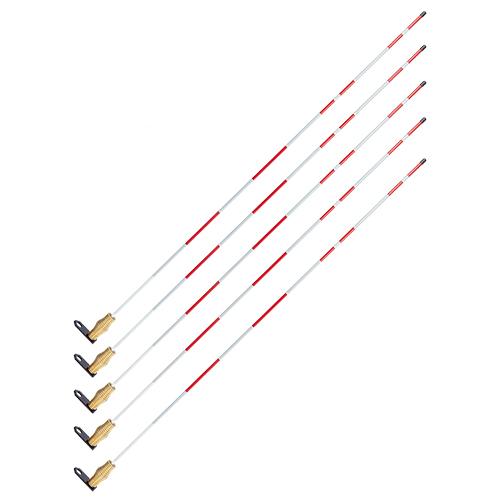 Top Mount Fiberglass Hydrant Marker - Steel Bracket (5-Pack)