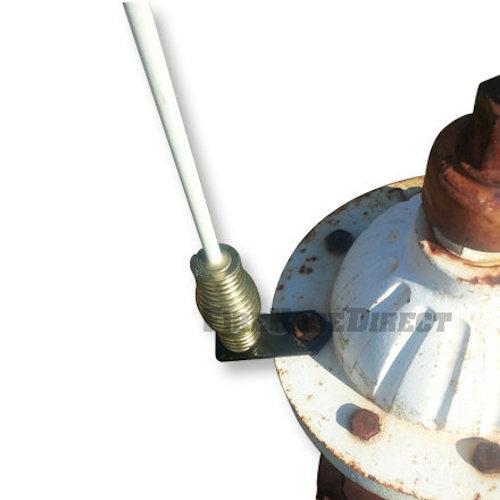 Top Mount Fiberglass Hydrant Marker - Steel Bracket - TMFHMS