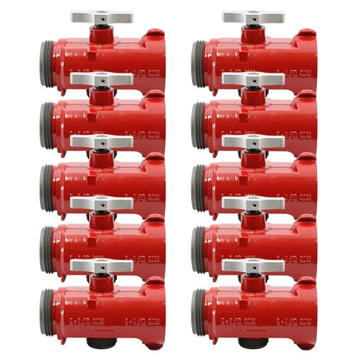 """Forestry Hose Line """"T"""" 1 1/2"""" NH x 1"""" NPSH (60-PACK)"""