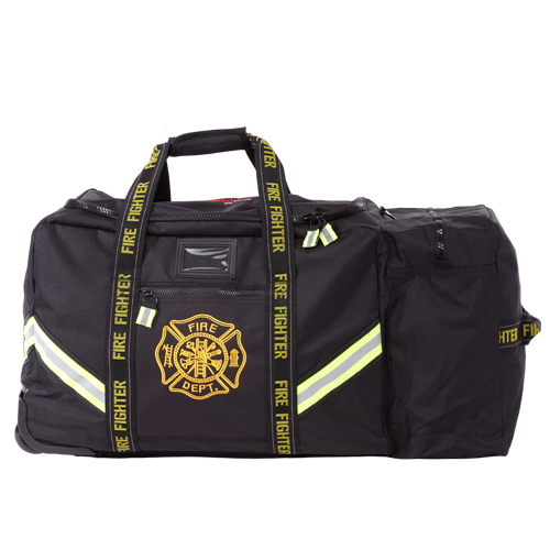 Maltese Cross Thin Red Line Rolling Firefighter Turnout Gear Bag
